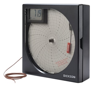 Dickson Company Temperature Chart Recorder DKT8P2 at Pollardwater