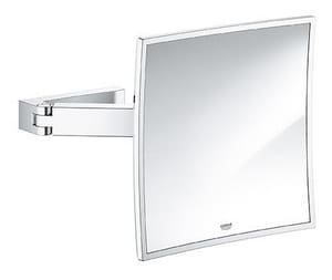 Selection Cube 8-3/4 x 8-3/4 in. Glass and Metal Cube Cosmetic Mirror in Polished Chrome G40808000