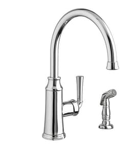 American Standard Portsmouth® Single Handle Monoblock Kitchen Faucet in Polished Chrome A4285051F15002