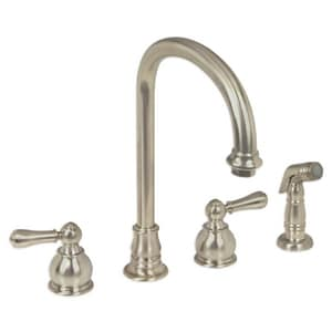 American Standard Hampton® Two Handle Widespread Kitchen Faucet in Brushed Nickel A4751732F15295