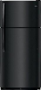 Frigidaire 18 cf Top Freezer Refrigerator in Ebony FFFHI1832TE