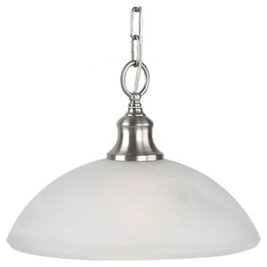 Generation Lighting Sea Gull 9-1/2 in. 1-Light Downlight Pendant in Brushed Steel GLRP800DW112