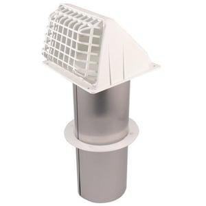 Deflecto 4 in. Plastic Dryer Flapper Vent Hood in White DRVHAW418