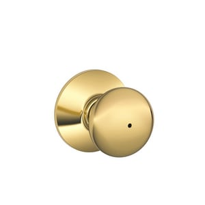 Schlage Lock Plymouth Brass Privacy or Bed or Bath Lock in Brass SCH988488