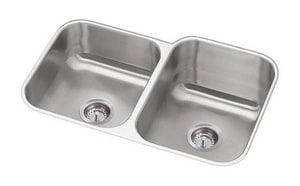PROFLO® Plomosa 31-7/16 x 20-7/16 in. 2-Bowl Kitchen Sink in Stainless Steel PFUC908RA