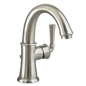 American Standard Portsmouth® Single Handle Monoblock Bathroom Sink Faucet in Brushed Nickel A7420101295