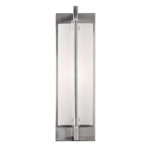 Murray Feiss Industries Fording 75W 1-Light Wall Sconce in Brushed Stainless Steel MWB1719BS