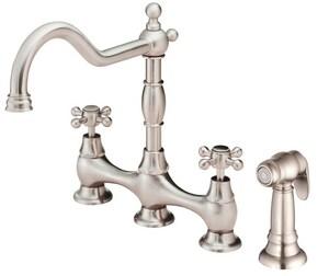 Danze Opulence™ Two Handle Bridge Kitchen Faucet in Stainless Steel DD404457