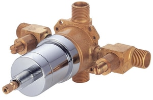 Danze Single-Handle Tub and Shower Pressure Balancing Valve Trim with Side Discharge Stop in Rough Brass DD112000BT
