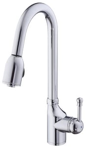 Danze Melrose® Pull-Down Kitchen Faucet with Single Lever Handle in Polished Chrome DD450015