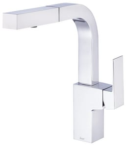 Gerber Plumbing Mid-Town® Single Handle Pull Out Kitchen Faucet in Polished Chrome GD404562