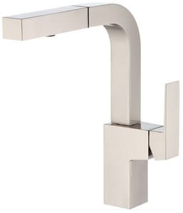 Gerber Plumbing Mid-Town® Single Handle Pull Out Kitchen Faucet in Stainless Steel GD404562SS