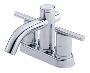 Danze Parma™ 1.2 gpm 3-Hole Deck Mount Centerset Lavatory Faucet with Double Lever Handle and Low Arc Spout in Polished Chrome DD301158