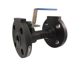 Milwaukee Valve 91 Series 1 in. Carbon Steel Reduced Port Flanged 150# Ball Valve MF91CS150RN1