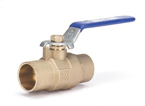 Not For Potable Use 1/2 Bronze 600 # Sweat 3 Piece Full Port BV Long Drop O MBA35002LDOCD