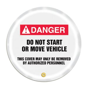 20 Wheel Cover DNGR DO NOT OP MOVE VEH AKDD726 at Pollardwater
