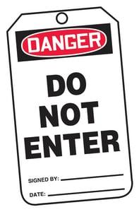 Safety TAG DNGR DO NOT ENTER 25 Pack AMDT164PTP at Pollardwater