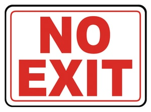 Accuform Signs 14 x 10 in. Adhesive Vinyl Sign - NO EXIT AMADC529VS