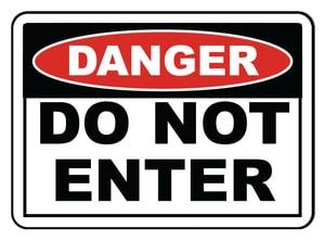 Accuform Signs 14 x 10 in. Aluminum Sign - DANGER DO NOT ENTER AMADM139VA
