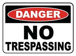 Accuform Signs 14 x 10 in. Aluminum Sign - DANGER NO TRESPASSING AMADM076VA