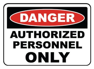 Accuform Signs 14 x 10 in. Adhesive Vinyl Sign - DANGER AUTHORIZED PERSONNEL ONLY AMADM006VS at Pollardwater
