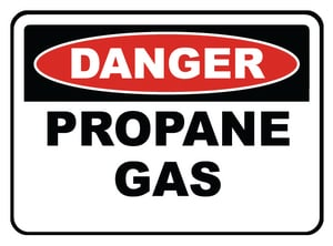 Accuform Signs 14 x 10 in. Aluminum Sign - DANGER PROPANE GAS AMCHL235VA at Pollardwater