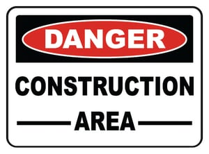 Accuform Signs 14 x 10 in. Plastic Sign - DANGER CONSTRUCTION AREA AMCRT135VP at Pollardwater