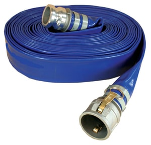 Abbott Rubber Co Inc 1-1/2 in. x 50 ft. Male Quick Connect x Female Quick Connect Polyester, Polyurethane and Woven Polyester Water Hose in Blue A1159150050CE at Pollardwater