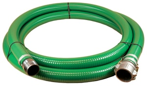 Abbott Rubber Co Inc 20 ft. x 3 in. 55 psi NPSM Male x Female Quick Connect Water Suction Hose in Green A1240300020CN at Pollardwater
