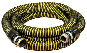Abbott Rubber Co Inc 4 in. x 20 ft. MNPSH x FNPSH Vinyl Suction Hose in Yellow and Black A1230400020 at Pollardwater