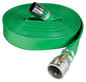 Abbott Rubber Co Inc 2 in. x 50 ft. MNPSH x Female Quick Connect PVC Discharge Hose in Green A1142200050CN at Pollardwater