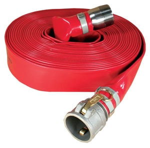 Abbott Rubber Co Inc 1-1/2 in. x 50 ft. NPSM Male x Female Quick Connect Heavy Duty PVC Discharge Hose in Red A1150150050CN at Pollardwater