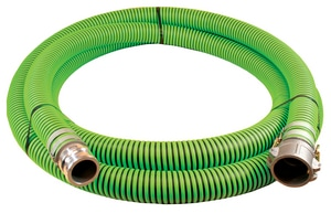 Abbott Rubber Co Inc 1-1/2 in. x 20 ft. All Weather Suction Hose MxF Quick Connects A1220150020CE