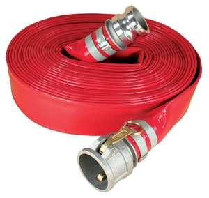 Abbott Rubber Co Inc 6 in. x 50 ft. PVC Red Discharge Hose MxF Quick Connects A1150600050CE at Pollardwater
