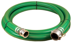 Abbott Rubber Co Inc 6 in. x 20 ft. PVC Suction Hose MxF Quick Connects A1240600020CE at Pollardwater