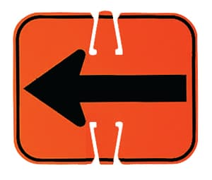 Non-Reflective Cone Sign Orange - SPECIFY TEXT / SYMBOL T01311AON at Pollardwater