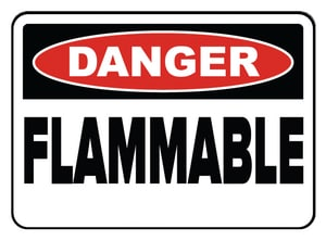 Accuform Signs 14 x 10 in. Plastic Sign - DANGER FLAMMABLE AMCHL231VP at Pollardwater