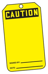 Safety TAG CAUTION & BLANK CARD 25 Pack AMDT612PTP at Pollardwater