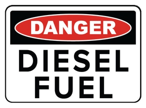 Accuform Signs 14 x 10 in. Adhesive Vinyl Sign - DANGER DIESEL FUEL AMCHL226VS at Pollardwater
