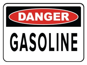 Accuform Signs 14 x 10 in. Adhesive Vinyl Sign - DANGER GASOLINE AMCHL245VS at Pollardwater