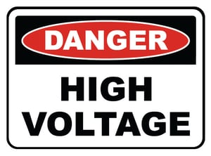 Accuform Signs 14 x 10 in. Aluminum Sign - DANGER HIGH VOLTAGE AMELC114VA