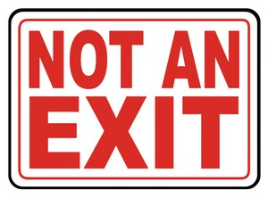 Accuform Signs 14 x 10 in. Aluminum Sign - NOT AN EXIT AMEXT911VA
