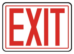 Accuform Signs 14 x 10 in. Adhesive Vinyl Sign - EXIT AMEXT906VS