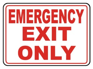 Accuform Signs 14 x 10 in. Plastic Sign - EMERGENCY EXIT ONLY AMEXT918VP at Pollardwater