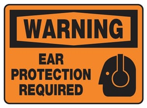 10 X 14 Plastic SIGN WARNING EAR Protector AMPPE300VP at Pollardwater