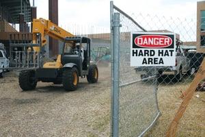 Accuform Signs 14 x 10 in. Aluminum Sign - DANGER HARD HAT AREA AMPPA005VA at Pollardwater