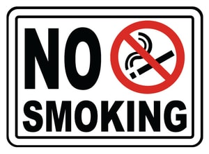 Accuform Signs 14 x 10 in. Plastic Sign - NO SMOKING IN THIS AREA AMSMG502VP