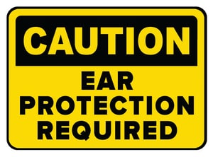 Accuform Signs 14 x 10 in. Aluminum Sign - CAUTION EAR PROTECTION MUST BE WORN IN THIS AREA AMPPA603VA