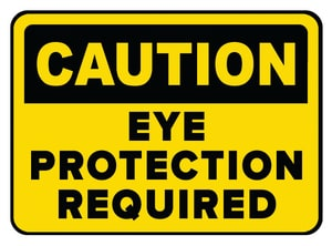 Accuform Signs 14 x 10 in. Aluminum Sign - CAUTION EAR AND EYE PROTECTION REQUIRED AMPPA608VA