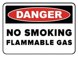 Accuform Signs 14 x 10 in. Plastic Sign - DANGER NO SMOKING AMWLD016VP